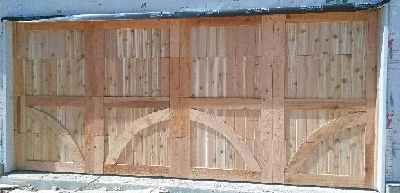 Kodiak DGS, TX, Custom, Handcrafted Wood Garage Door